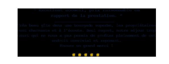 le 14 saint michel josselin maison d'hotes commentaire francais